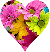 Cut out heart from flowers image