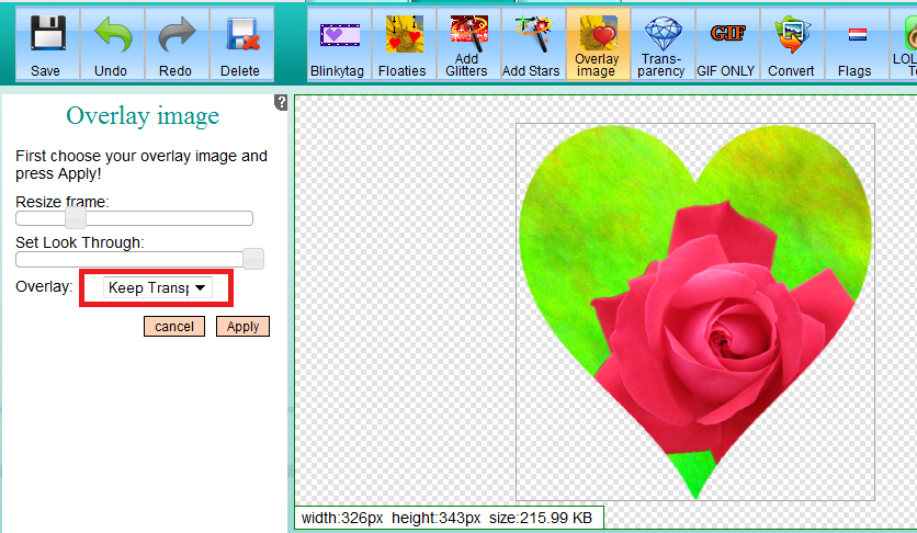 Overlay or blend images | Free Online Image Editor